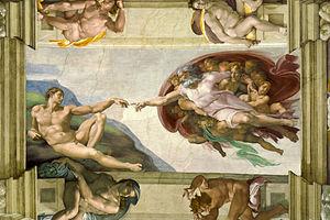 Creation of Adam / Michelangelo. Environmental stewardship