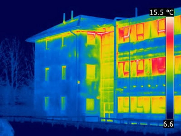 Infrared tomography of heat loss. energy efficient improvements for an older home