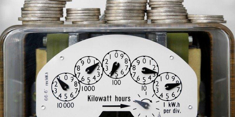 energy meter with money. economic sustainability
