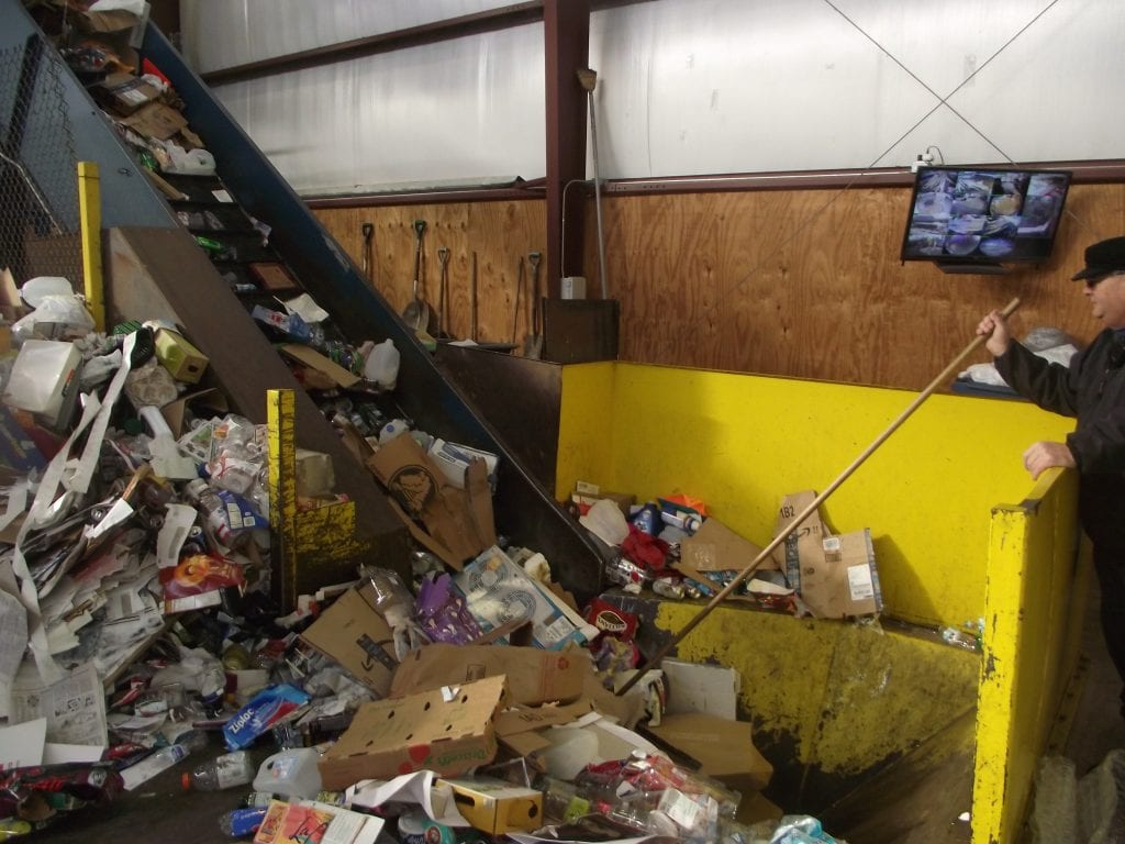 recycling process, Bowling Green, Ohio
