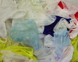 jumble of plastic bags