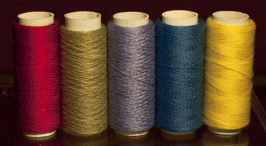 thread. bamboo fabric