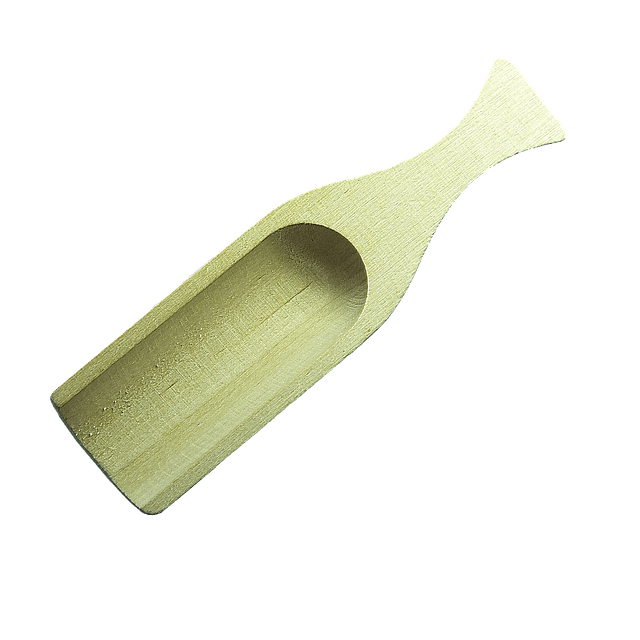 molded bamboo scoop