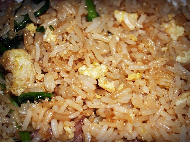 chicken fried rice. convenience food