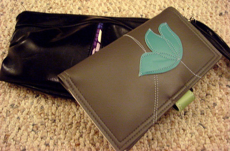 vegan leather purse and wallet