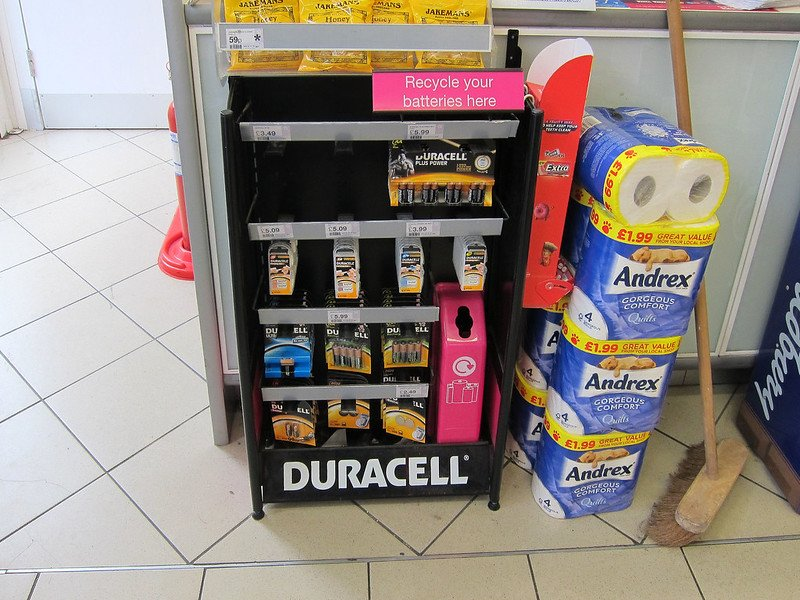 Drop off box for rechargeable battery recycling