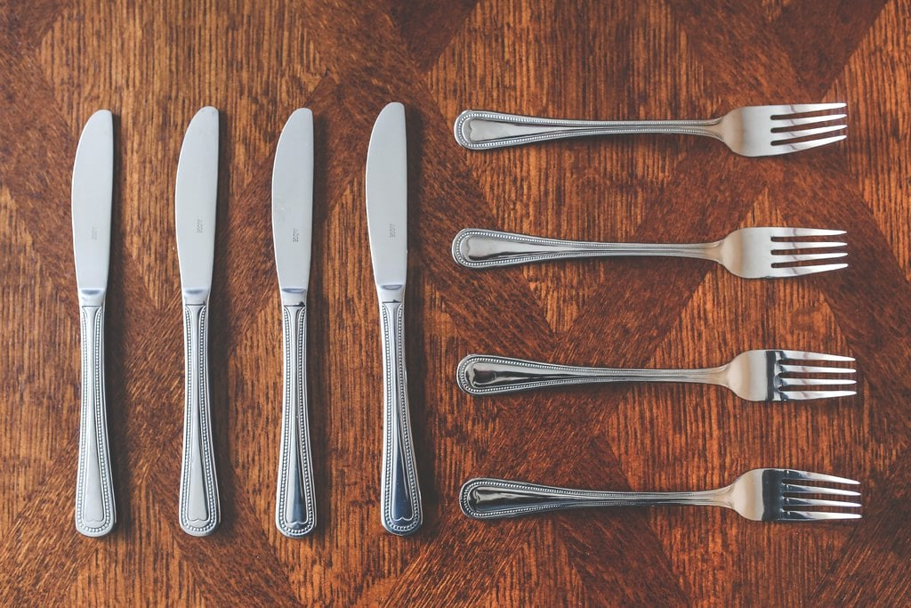 metal knives, forks. sustainable products