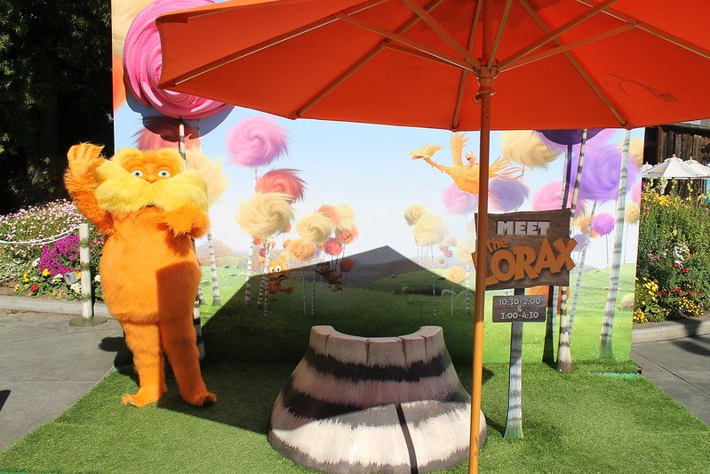 The Lorax movie meet and greet area