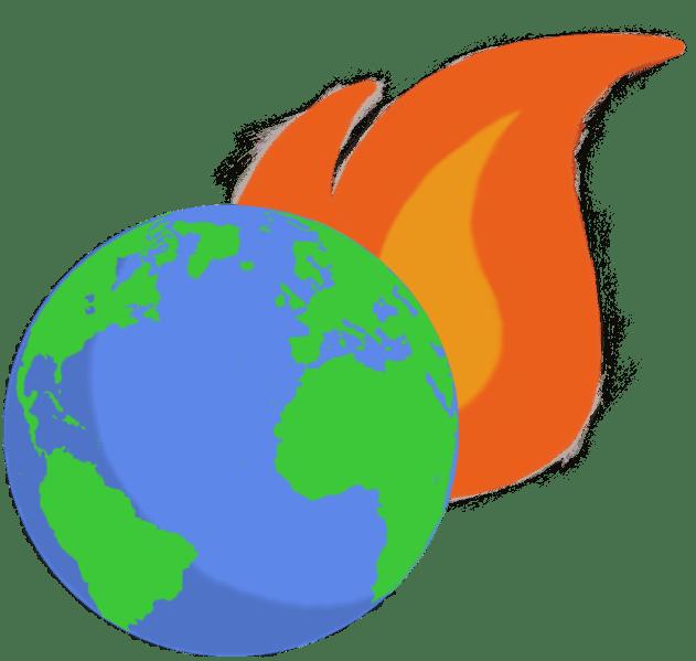 Earth afire graphic