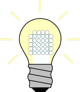 LED light bulb diagram. Energy efficiency
