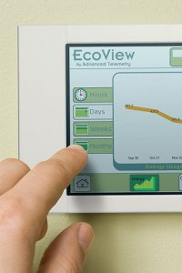programmable thermostat. Energy efficiency at home