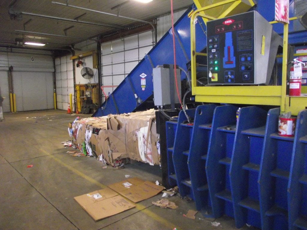 cardboard baler, recycling process