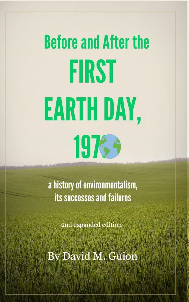 Before and after the first earth day 1970