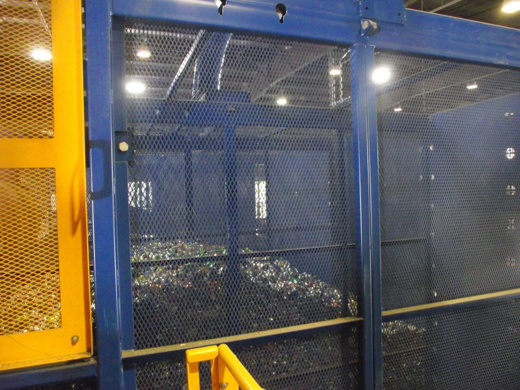 aluminum can bunker. recycling process