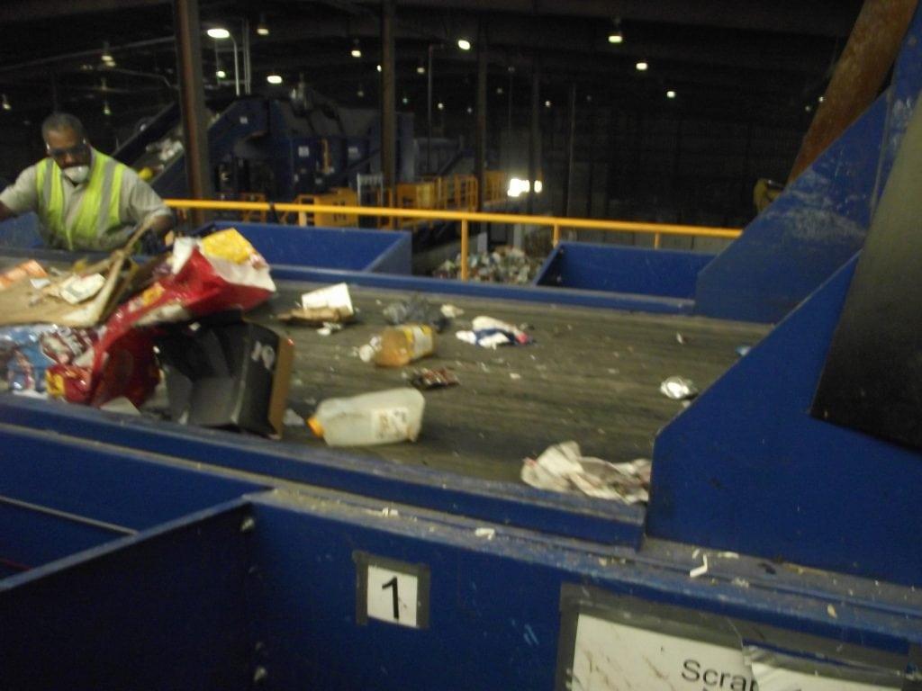 presort line, recycling process