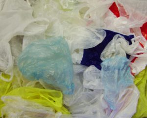 jumble of plastic bags