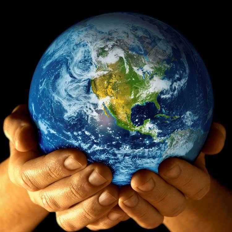 Earth in hands