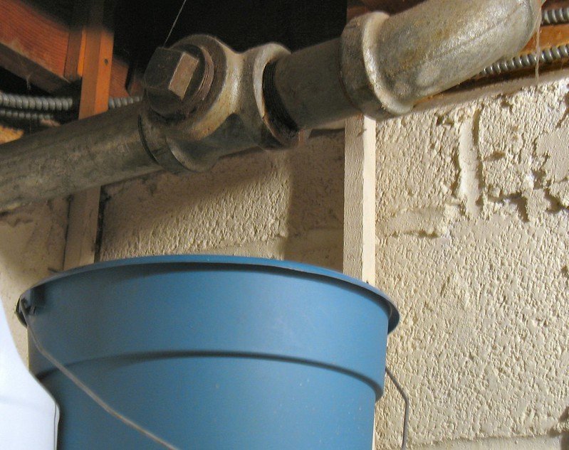 leaky pipe. benefits of green living