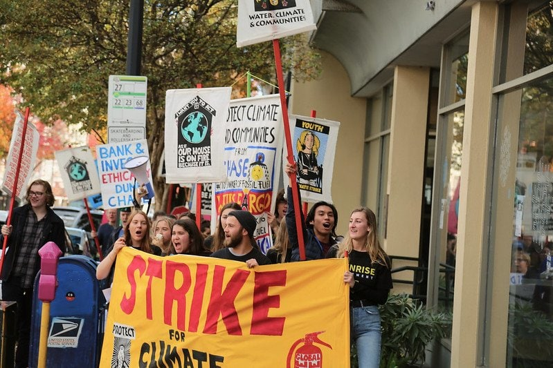Climate strike. sustainable living message