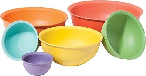 molded bamboo mixing bowl set