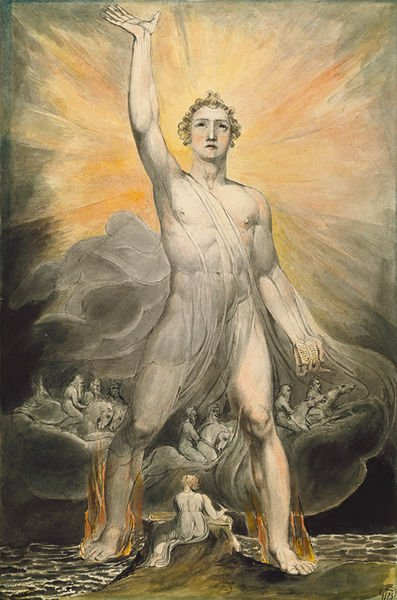 Angel of Revelation / William Blake. Plagues of Revelation