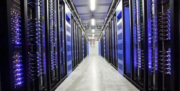 Google server room. environmental degradation